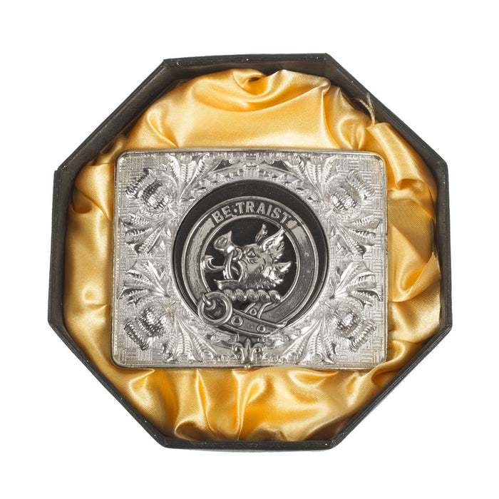 Clans Of Scotland Crested Belt Buckle Innes