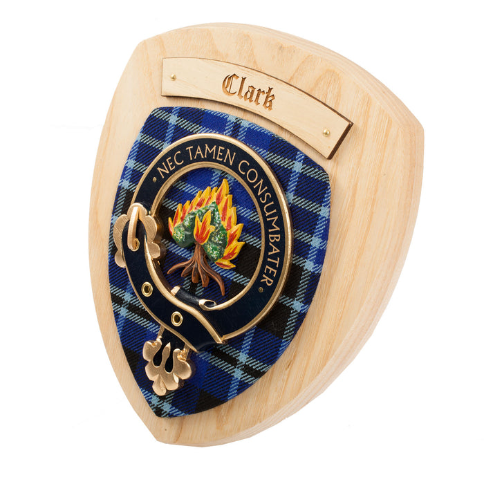Clans Of Scotland Wooden Crested Wall Plaque Ish Tartan Crests Clark