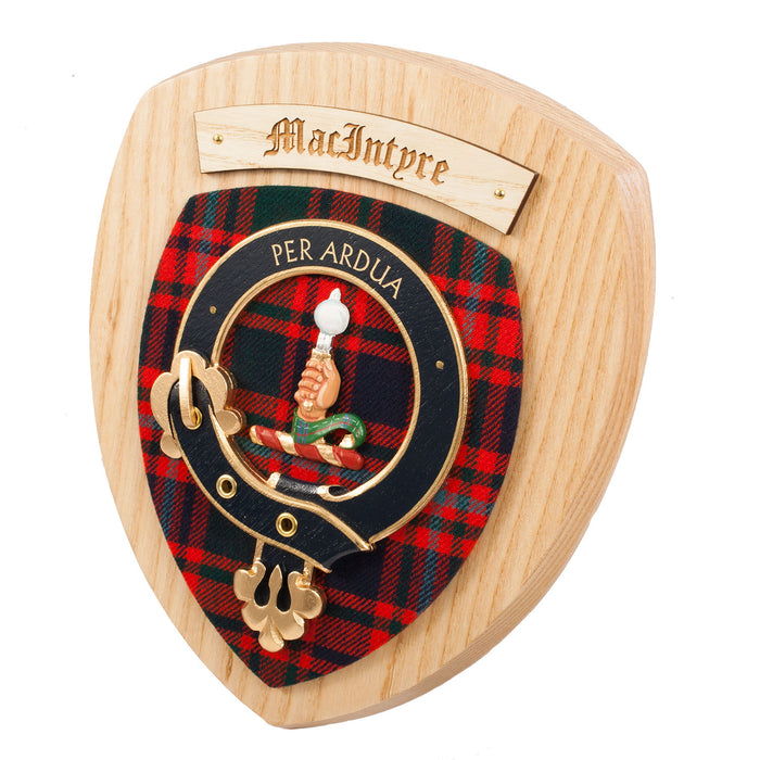 Clans Of Scotland Wooden Crested Wall Plaque Ish Tartan Crests Macintyre