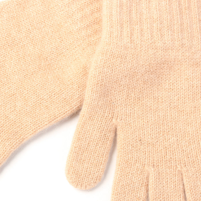 WOMEN'S 2-PLY CASHMERE KNITTED FASHION ADIES GLOVES 13-Camel