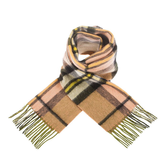 Edinburgh 100% Lambswool Scottish Tartan Reversible Double Faced Scarves