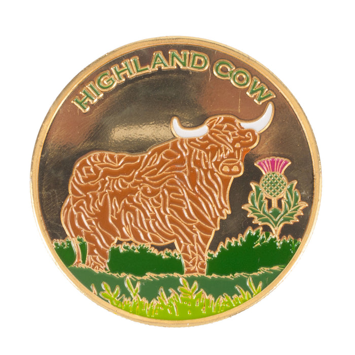 Scotland Souvenir Coin Cow
