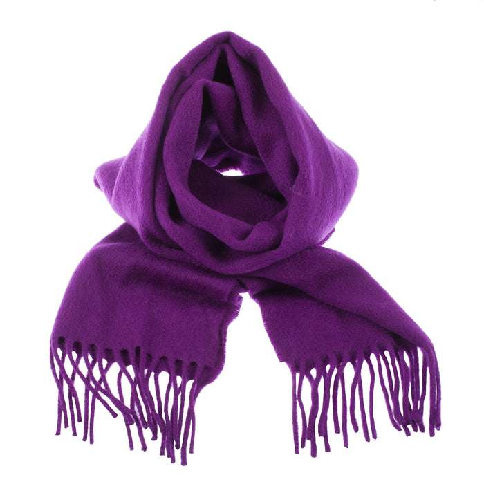 100% Cashmere Scarf Made In Scotland Purple