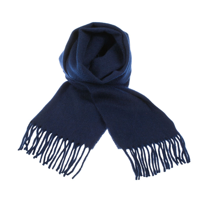 100% Cashmere Scarf Made In Scotland Navy