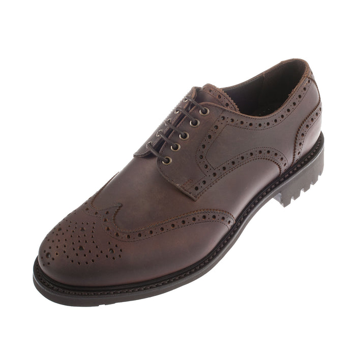 Men's Rugby Leather Lace Up Shoe Brown