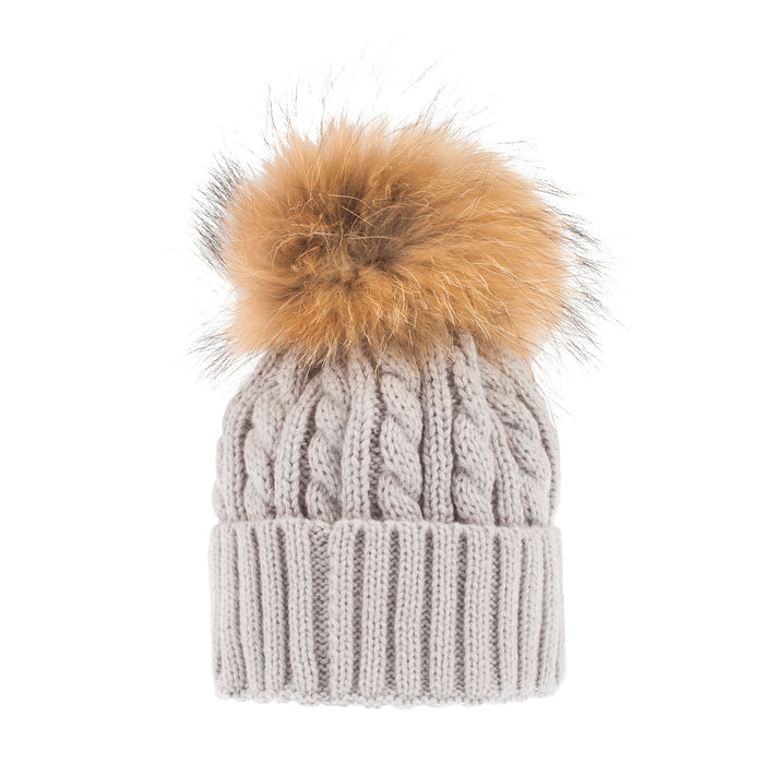 Women's Cable Pom Pom Hat
