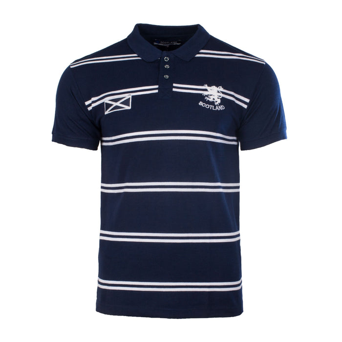 Men's Scotland Stripe Polo Shirt