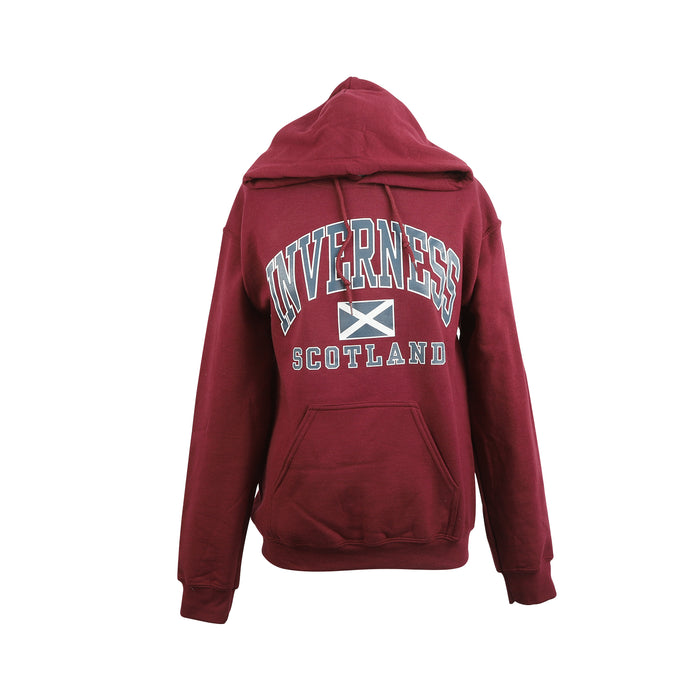 (D) Inverness Harvard Print Hooded Top
