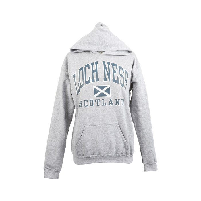 (D) Loch Ness Harvard Print Hooded Top Sports Grey