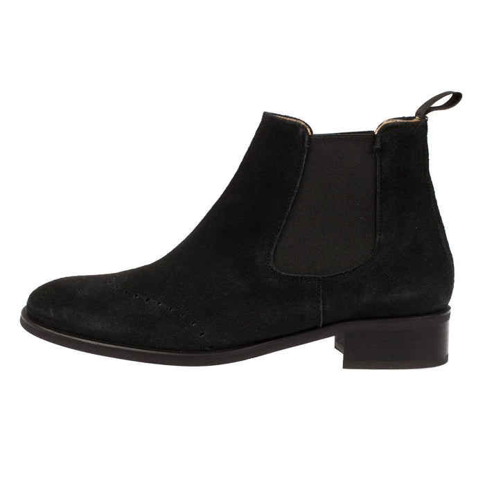 Women's Leather Brogue Chelsea Ankle Boot