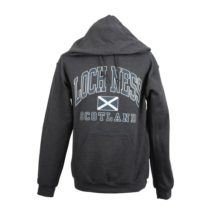 (D) Loch Ness Harvard Print Hooded Top