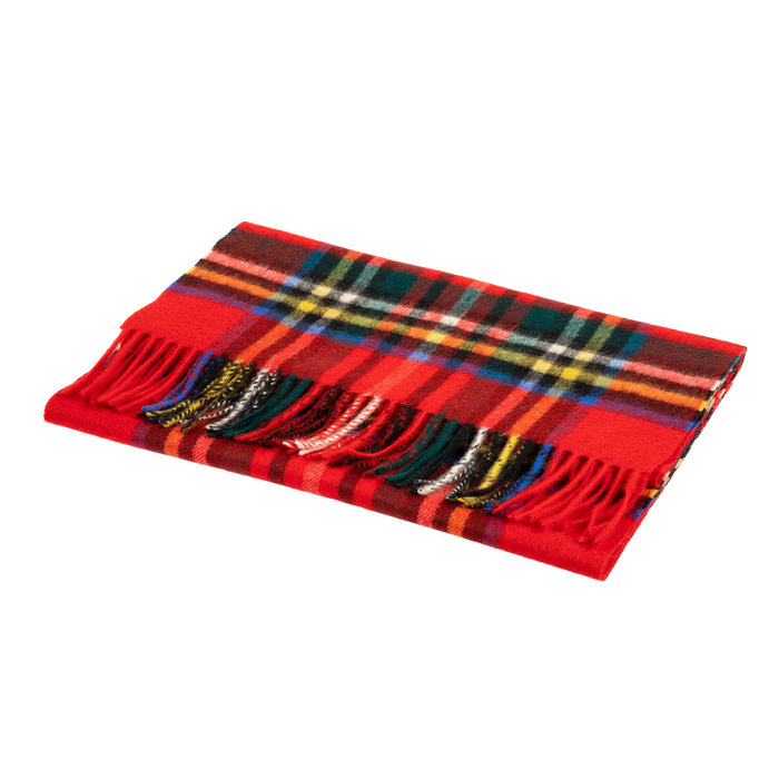Edinburgh 100% Cashmere Wide Scarf  Stewart Royal