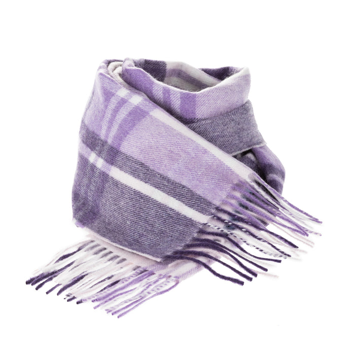 Edinburgh Cashmere Scarf  Jk Check Purple