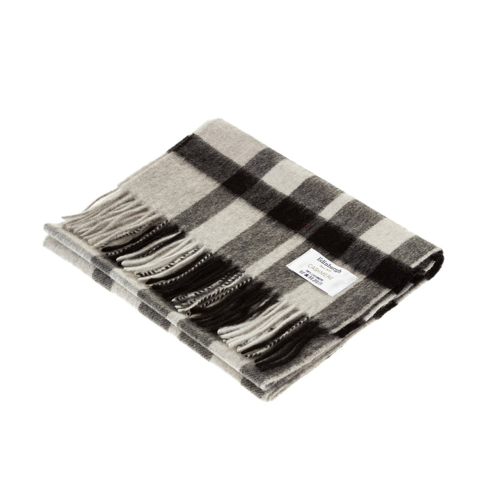 Edinburgh Cashmere Scarf  Exploded Scotty Thomson Lt Grey