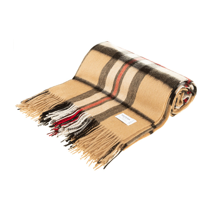 100% Lambswool Blanket Thomson Camel
