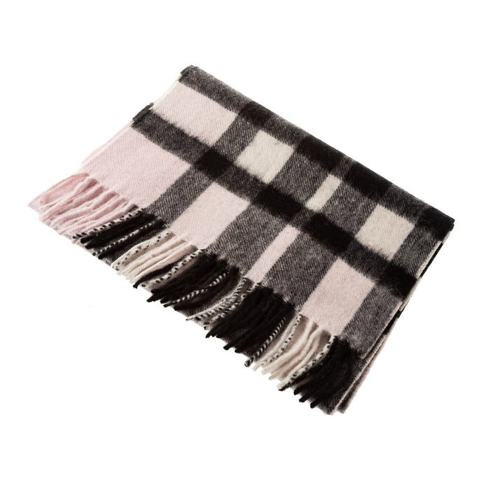 Pure Cashmere Scarf  Exploded Scotty Thomson Lt Pink