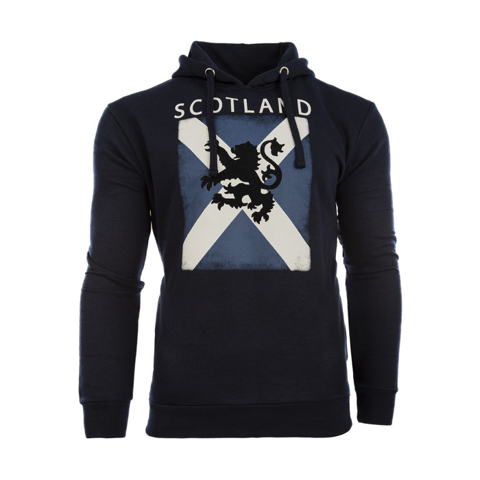Distressed Saltire Lion Hooded Top