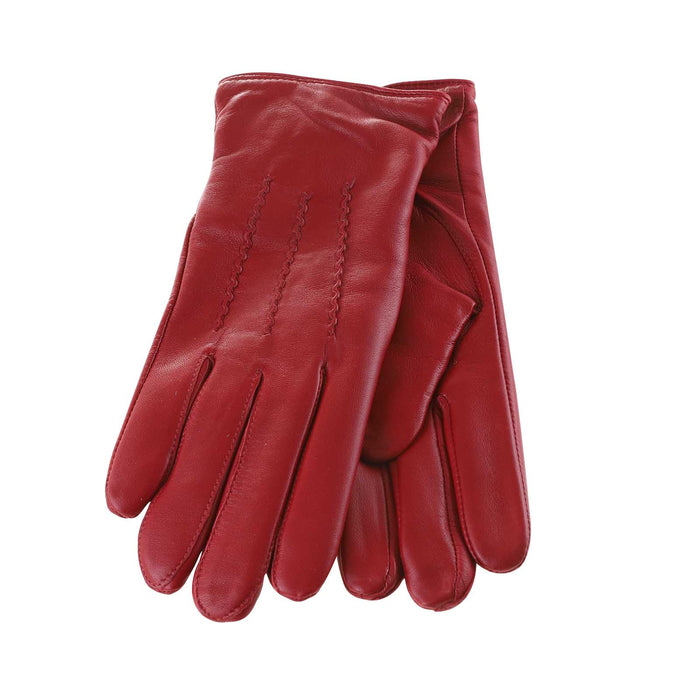 Women's Leather Gloves  Red