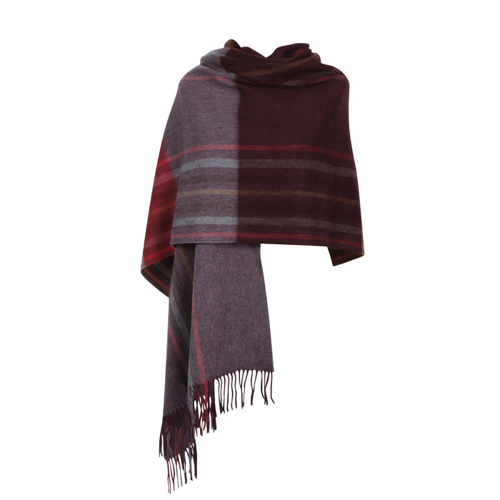 Edinburgh Lambswool Stole  Barcode Check - Wineberry