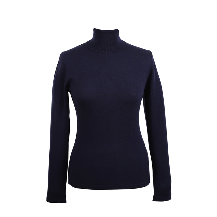 100% Merino Ladies Polo Neck Sweater