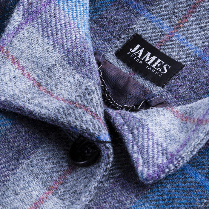 Harris Tweed Cape Jacket Denim/Sage