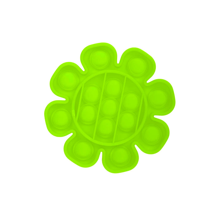 Push Pop Bubble Fidget Toy Flower Green