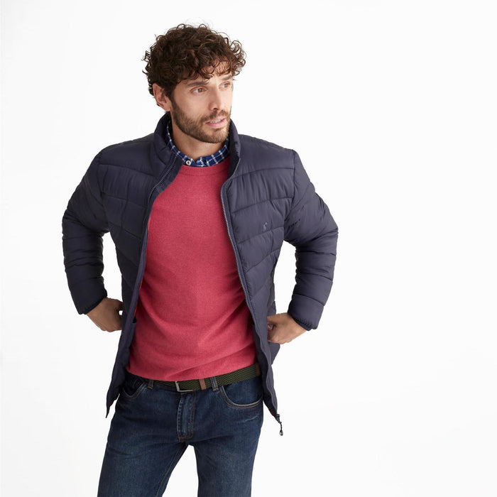 Men's Joules Go To Lightweight Quilted Coat Marine Navy