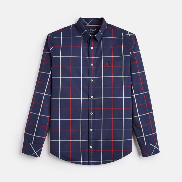 Men's Joules Welford Classic Fit Shirt Navy Multi Check