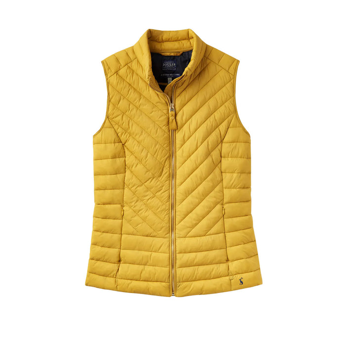 Women's Joules Brindley Quilted Gilet Antique Gold