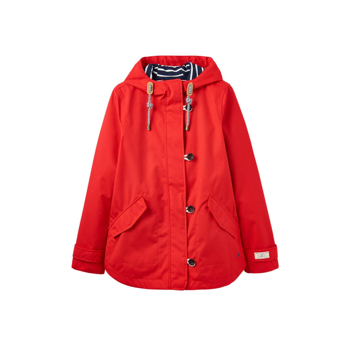 Women's Joules Coast Waterproof Jacket Red