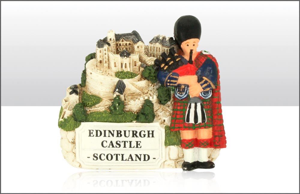 Piper And Edinburgh Castle Magnet