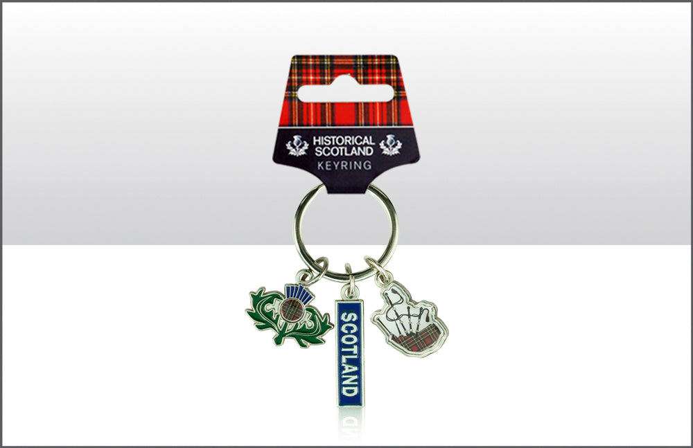 Scot/Thistle/Bag Pipes Keyring