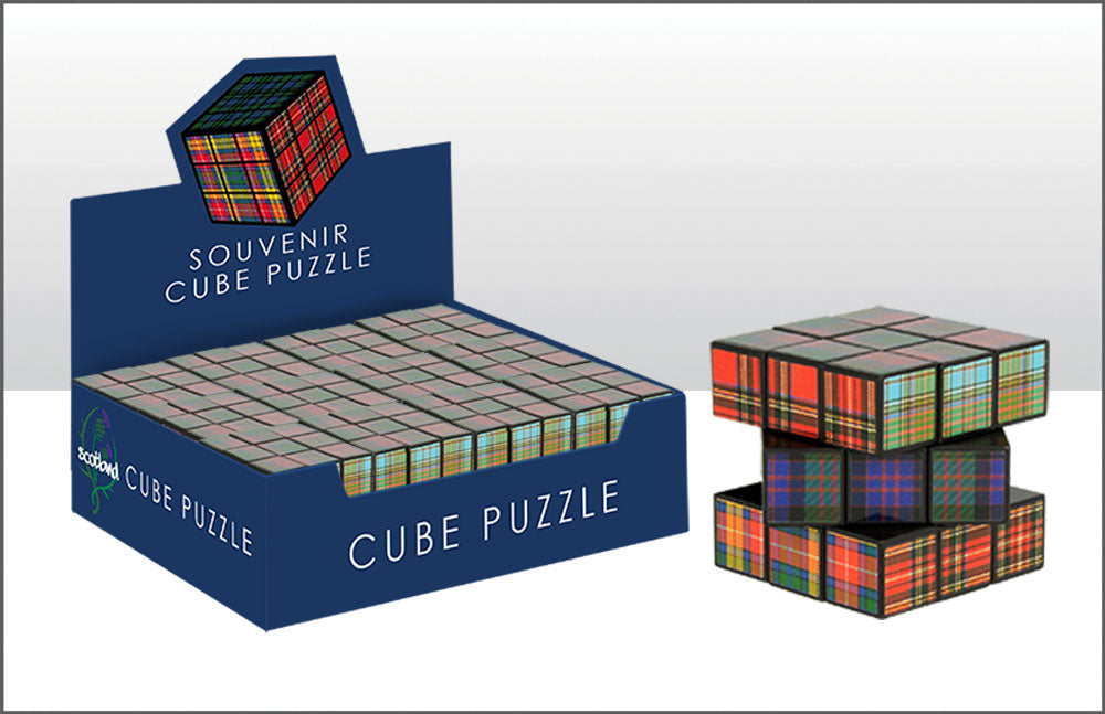 Tartan Puzzle Cube With 12Pc Cdu