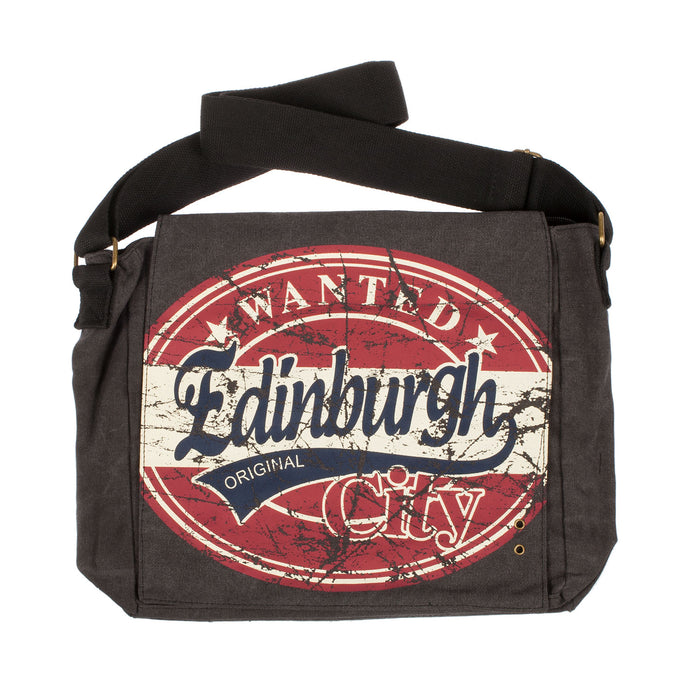 Alex Large Edinburgh Wanted Messenger Bag Black