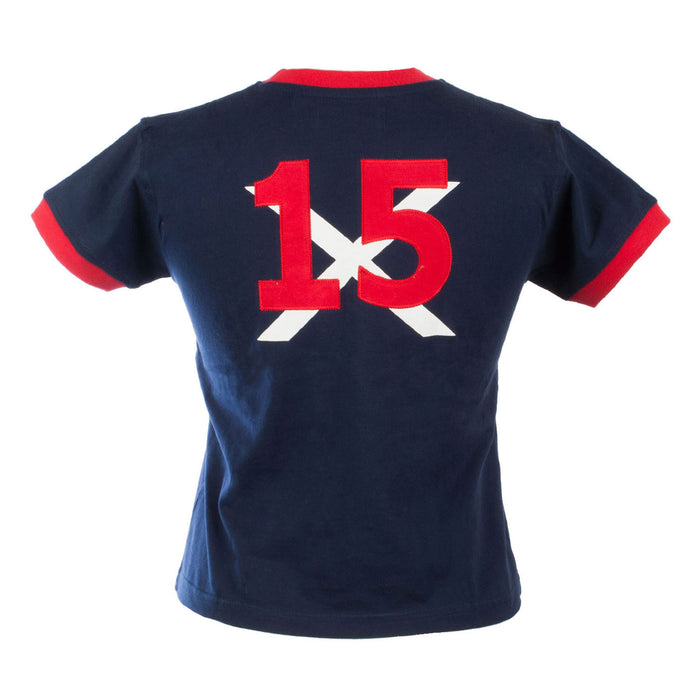 Kids Scotland No 15 Red Lion T/Shirt Navy