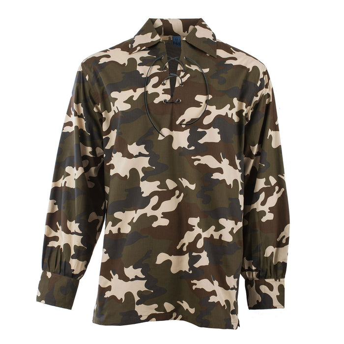 Gents Deluxe Ghillie Shirt Green Camo