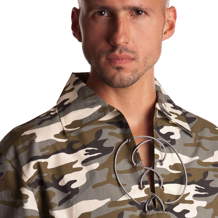 Gents Deluxe Ghillie Shirt Grey Camo
