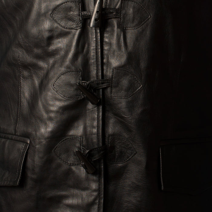 Gents Long Jacobite Leather Waistcoat