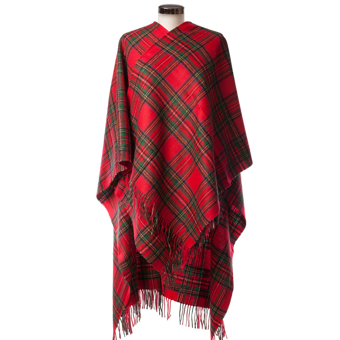 Edinburgh Lambswool Long Tartan Cape  Stewart Royal