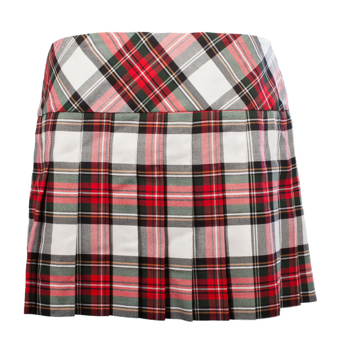 Ladies Tartan Billie Kilted Skirt Stewart Dress