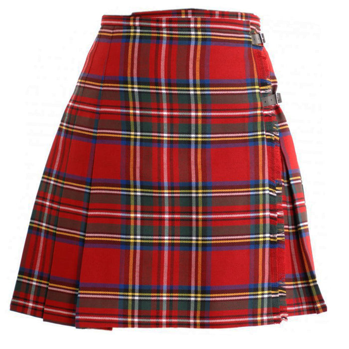 Ladies Deluxe Tartan Kilted Skirt Stewart Royal