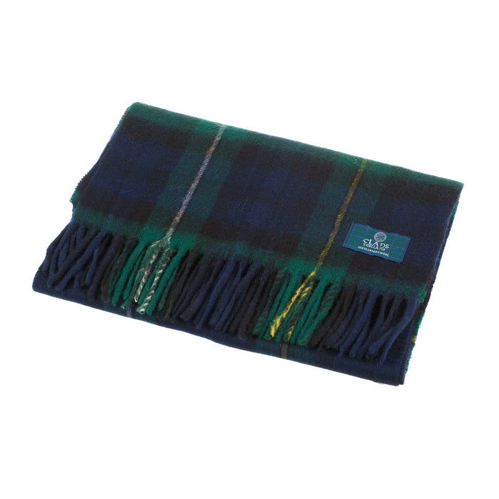 Clans Of Scotland Pure New Wool Scottish Tartan Scarf Campbell Of Argyll