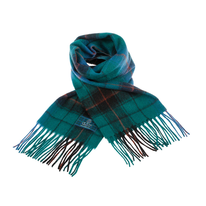 Clans Of Scotland Pure New Wool Scottish Tartan Scarf Davidson Ancient