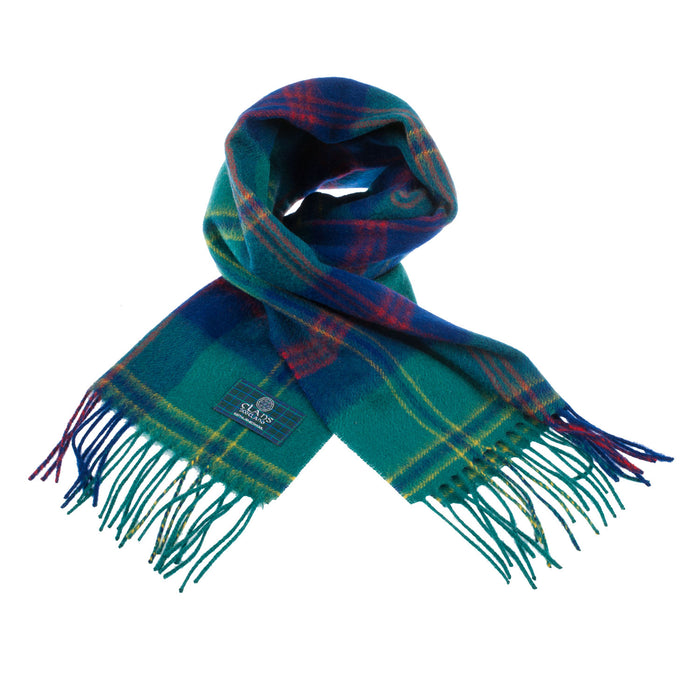 Clans Of Scotland Pure New Wool Scottish Tartan Scarf Gretna Green Ancient