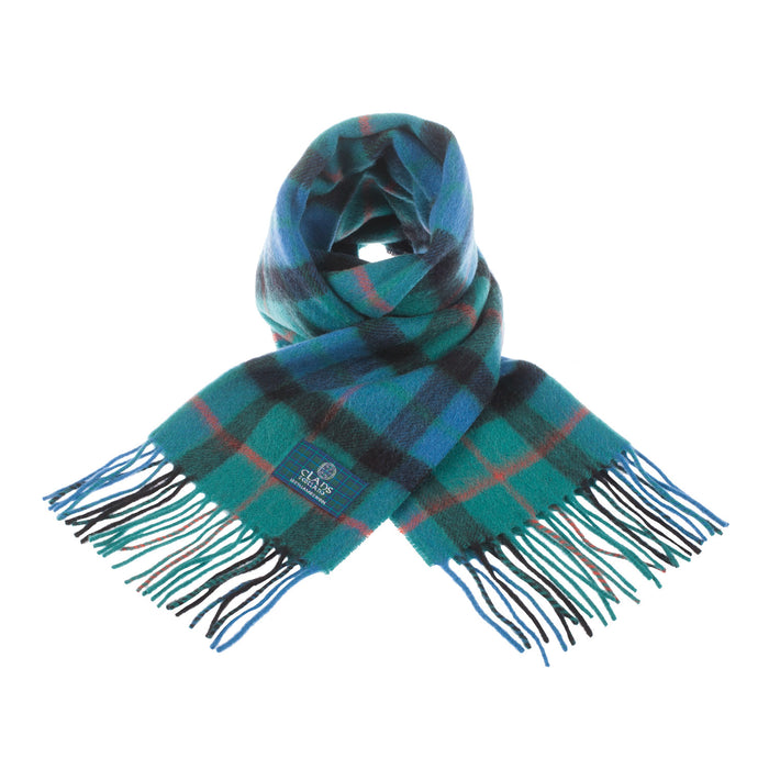 Clans Of Scotland Pure New Wool Scottish Tartan Scarf Gunn Ancient