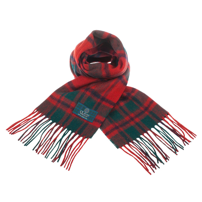 Clans Of Scotland Pure New Wool Scottish Tartan Scarf Macintosh Clan