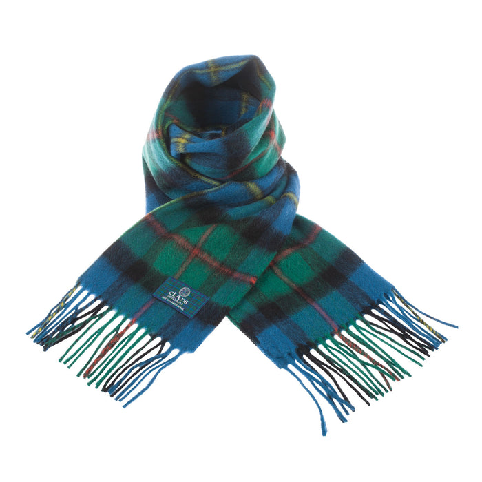 Clans Of Scotland Pure New Wool Scottish Tartan Scarf Macleod Of Harris Ancient
