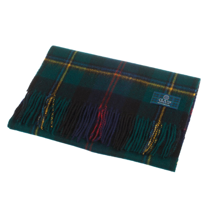 Clans Of Scotland Pure New Wool Scottish Tartan Scarf Malcolm