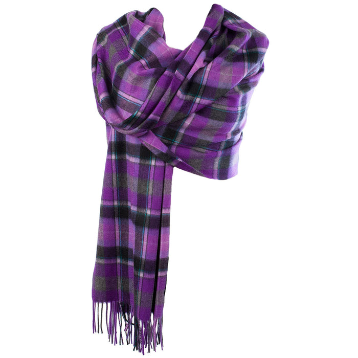 Edinburgh Cashmere Stole  Bruce/Purple Grey