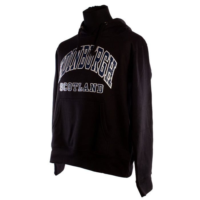 Edinburgh Harvard Print Hooded Top Black